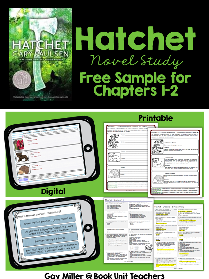 Purchase Hatchet Novel Study on TPT.