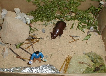 Diorama from Hatchet and Brian's Winter