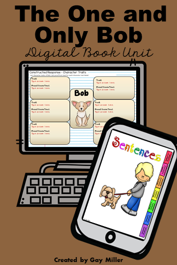 The One and Only Ivan Novel Study includes digital resources created using Google Slides and Boom Learning.