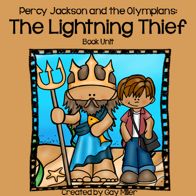 Percy Jackson and the Lightning Thief Book Unit is available on Teachers Pay Teachers.