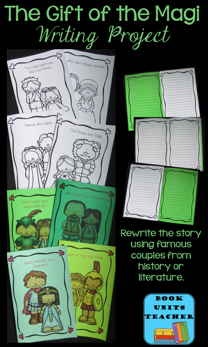 Gift of the Magi Writing Project ~ This packet contains free printables for ten different famous couples. Both full color and black line copies are provided.