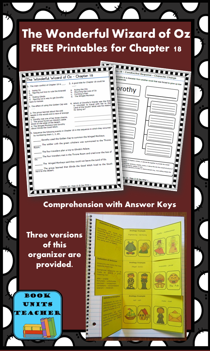 FREE printable pages for The Wonderful Wizard of Oz ~ Chapter 18