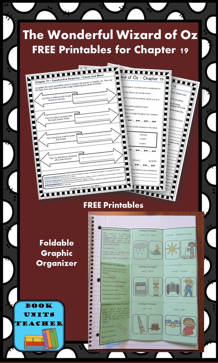 FREE printable pages for The Wonderful Wizard of Oz ~ Chapter 19