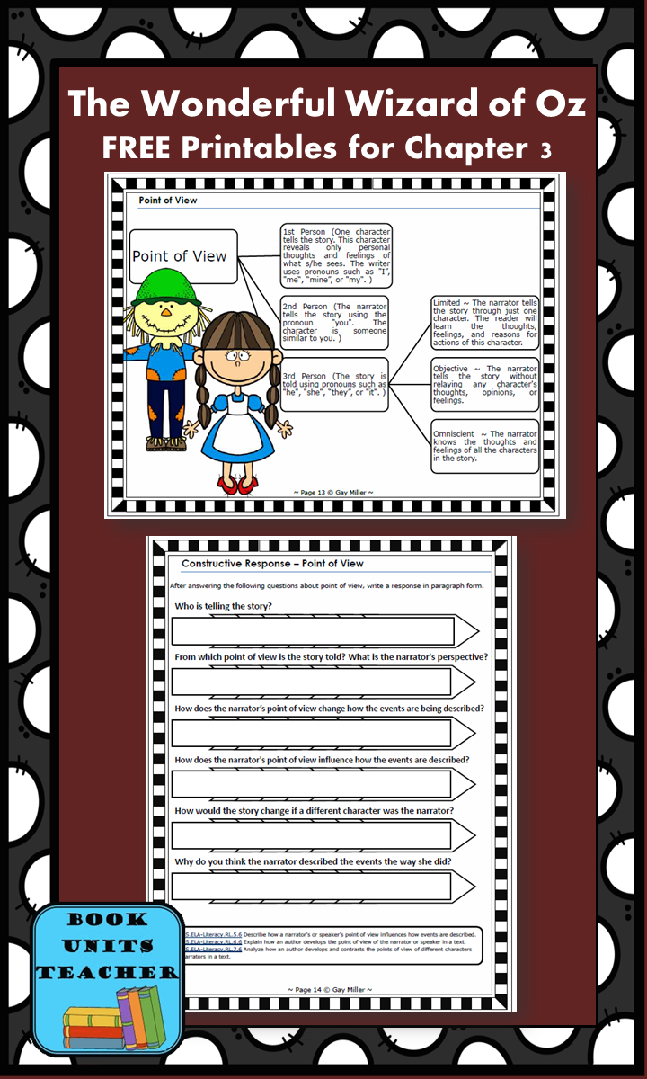 FREE printable pages for The Wonderful Wizard of Oz ~ Chapter 3