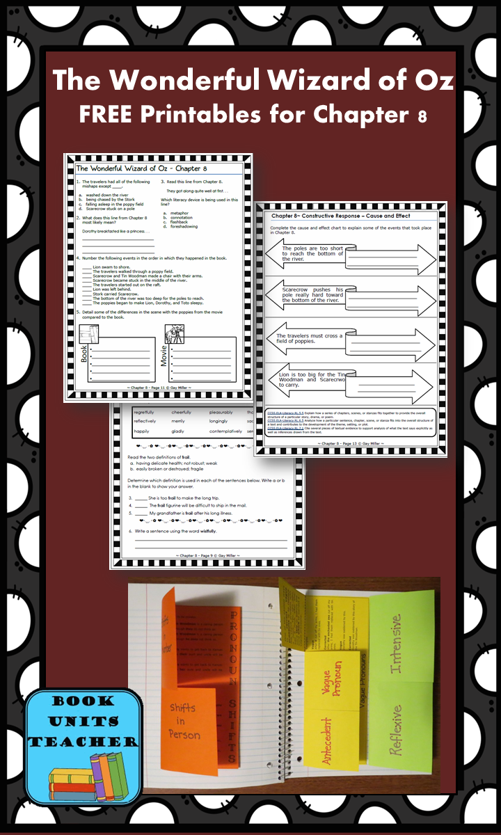 FREE printable pages for The Wonderful Wizard of Oz ~ Chapter 8