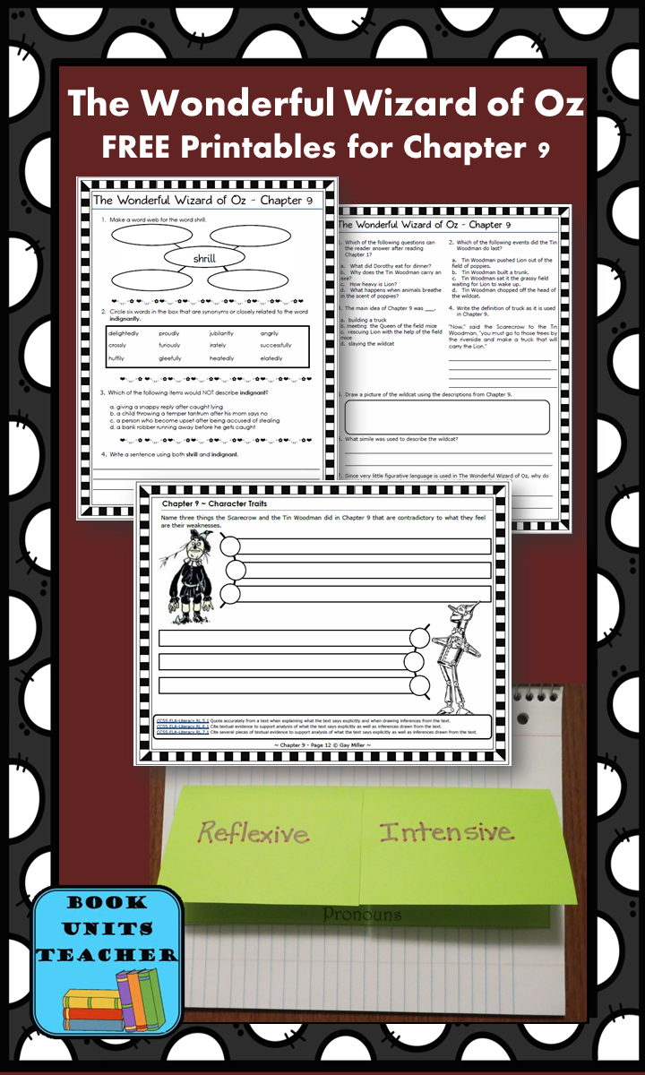 FREE printable pages for The Wonderful Wizard of Oz ~ Chapter 9
