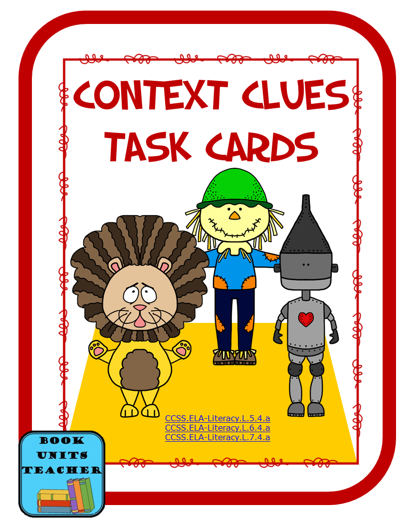 Download these FREE task cards. The task cards contain passages from The Wonderful Wizard of Oz.