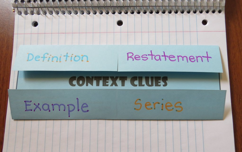 Free Context Clues Foldable Organizer