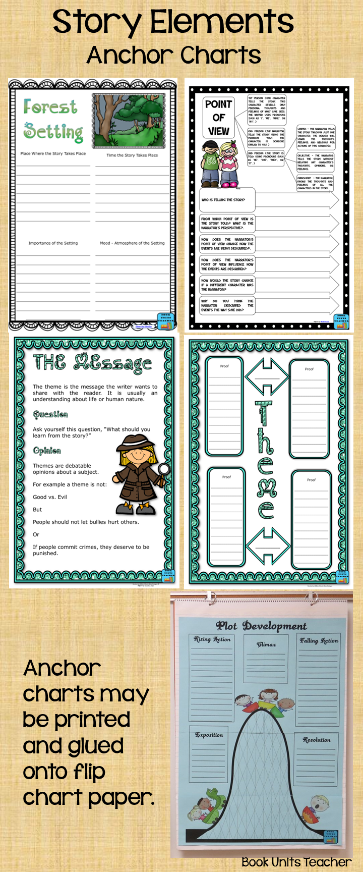 These printables are large enough to use as anchor charts. Print out using the poster option. Glue the pieces together, and they are ready for use.