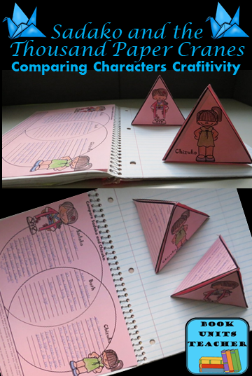 This free resource contains pyramid organizers for Sadako and Chizuko plus a Venn Diagram to compare and contrast the two characters.