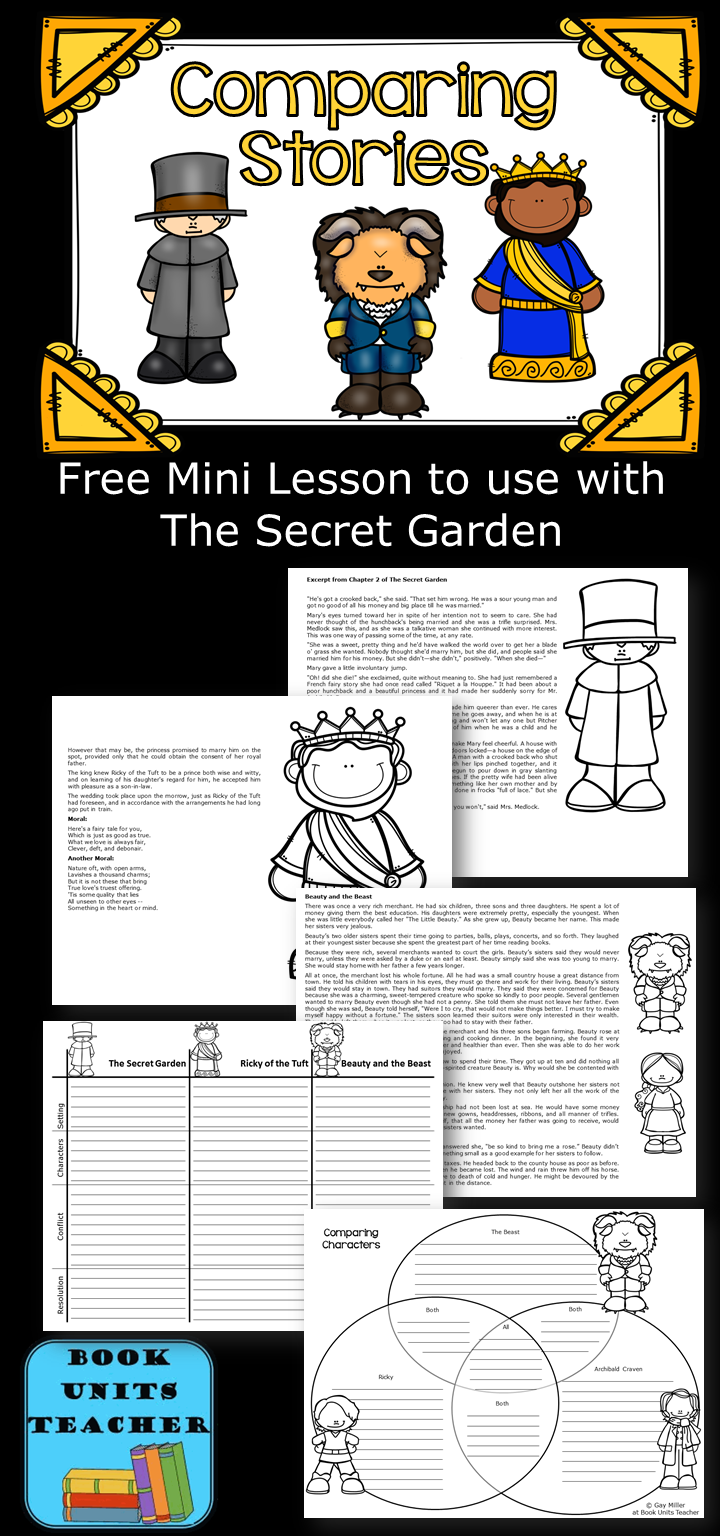 Free Mini Lesson to Compare The Secret Garden to Ricky of the Tuft and Beauty and the Beast