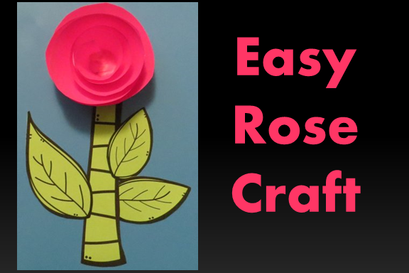 Create this beautiful rose - super simple and fun for students.