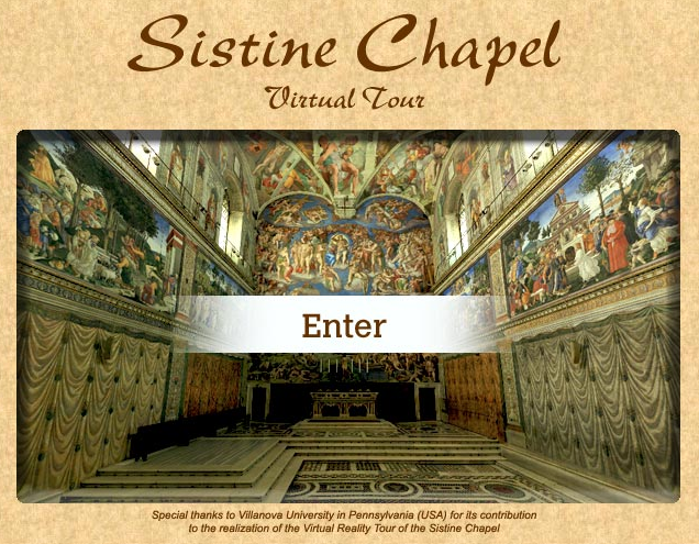 3D Tour of the Sistine Chapel