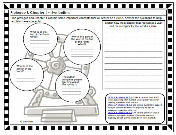 Free Printable Tuck Everlasting Constructive Response Graphic Organizer