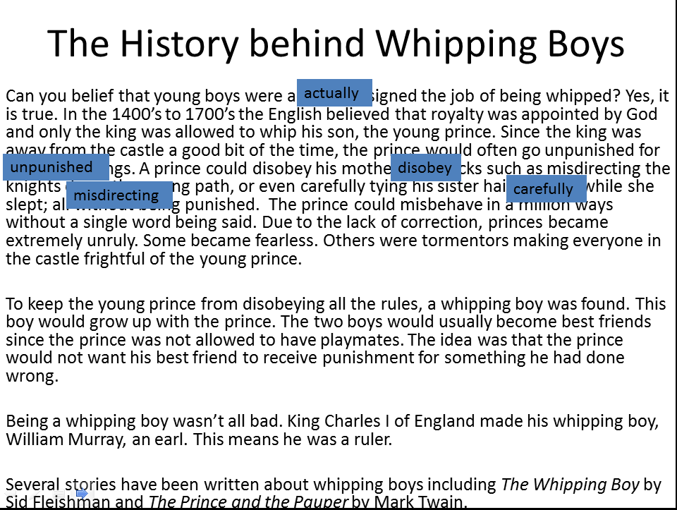 The History Behind Whipping Boys