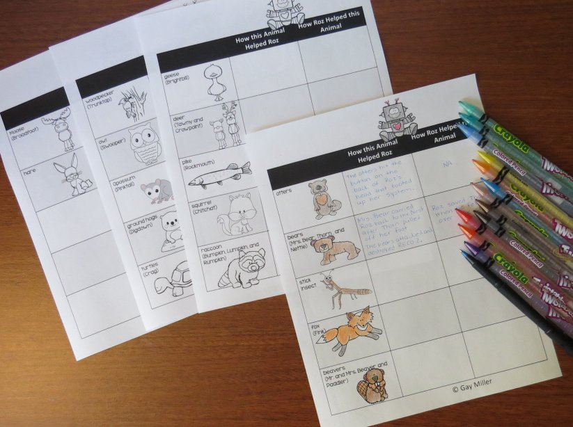 Compare and Contrast Printables for The Wild Robot