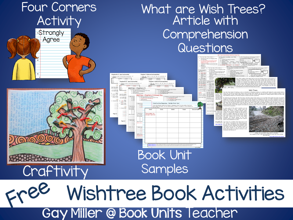 Free Activities to Use with the novel Wishtree by Katherine Applegate