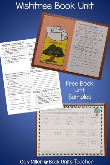 Free Book Unit Samples for Wishtree by Katherine Applegate