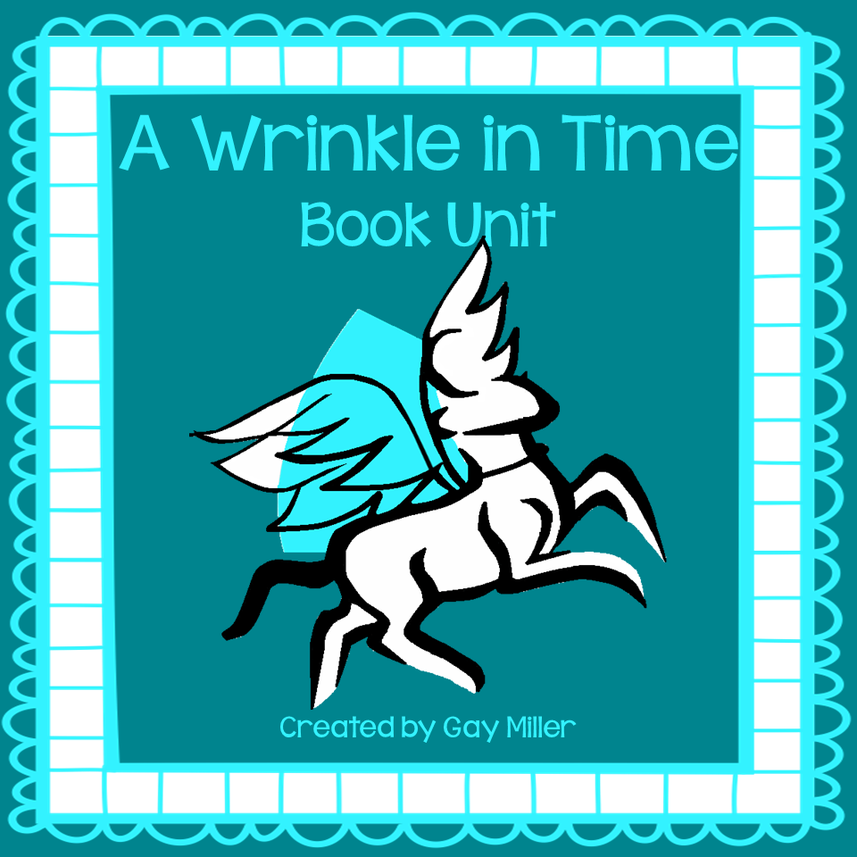 A Wrinkle in Time Interactive Notebook and Activity Unit contains graphic organizers for an interactive notebook and game activities covering vocabulary, constructive response writing, and skill practice.