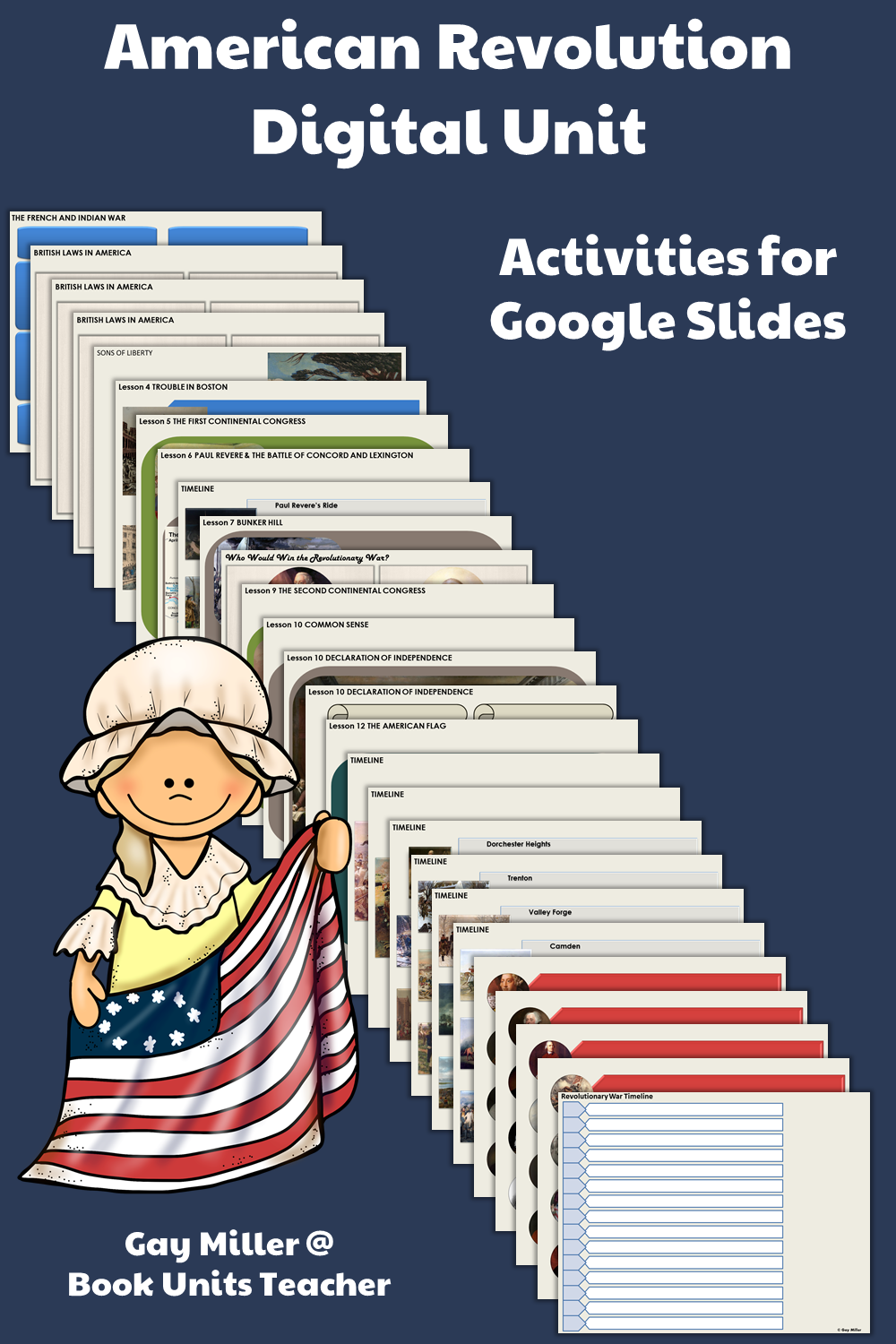 Purchase American Revolution Lapbook + Digital Unit on Teachers Pay Teachers. This activity is great for upper elementary including 4th, 5th, and 6th graders.