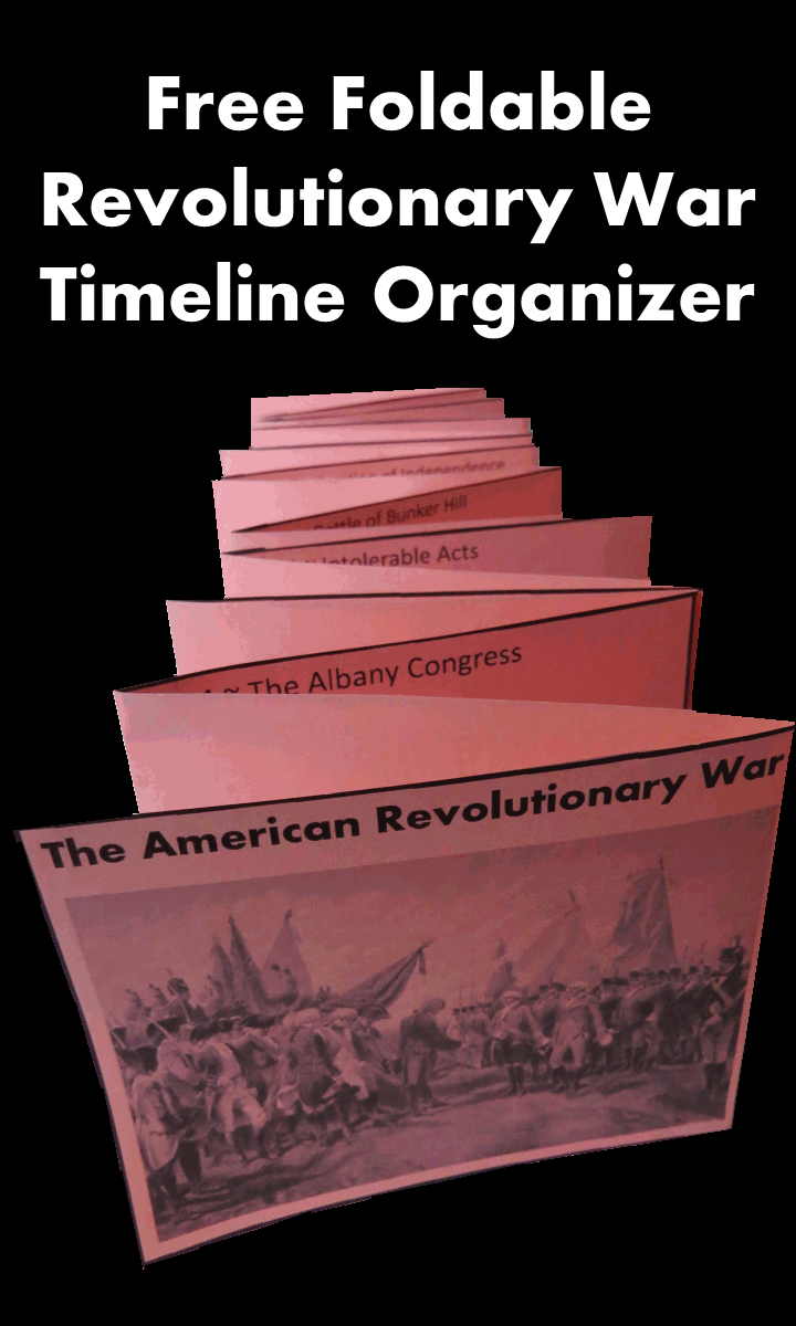 Free Foldable Revolutionary War Timeline Organizer