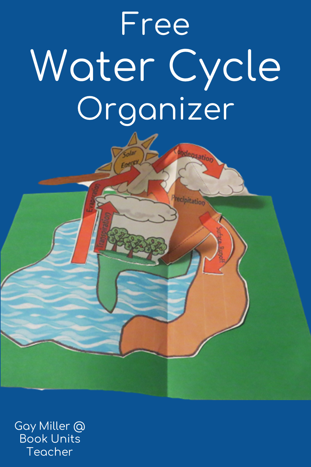 Free Interactive Science Organizers - Water Cycle Organizers