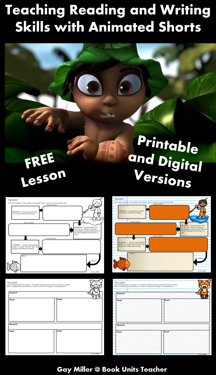 Free Printables to Use when Teaching Reading and Writing Skills with the Animated Short Broken: Rock, Scissors, Paper