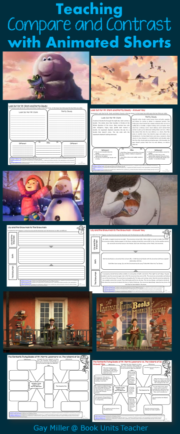Free Printables to Use with Animated Shorts (Compare and Contrast)