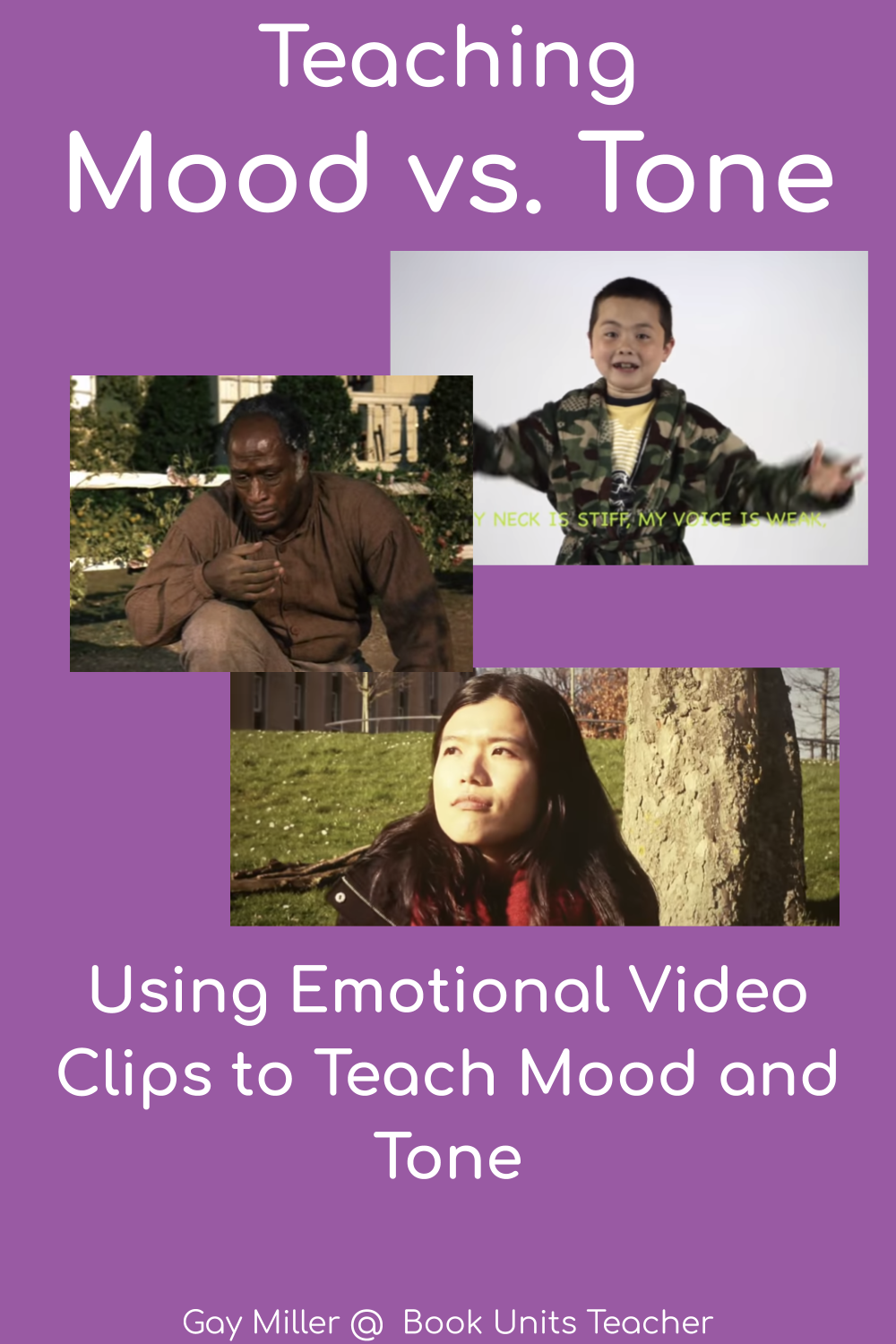 In this mini lesson, students learn the differences between mood and tone with emotional video clips and other activities.