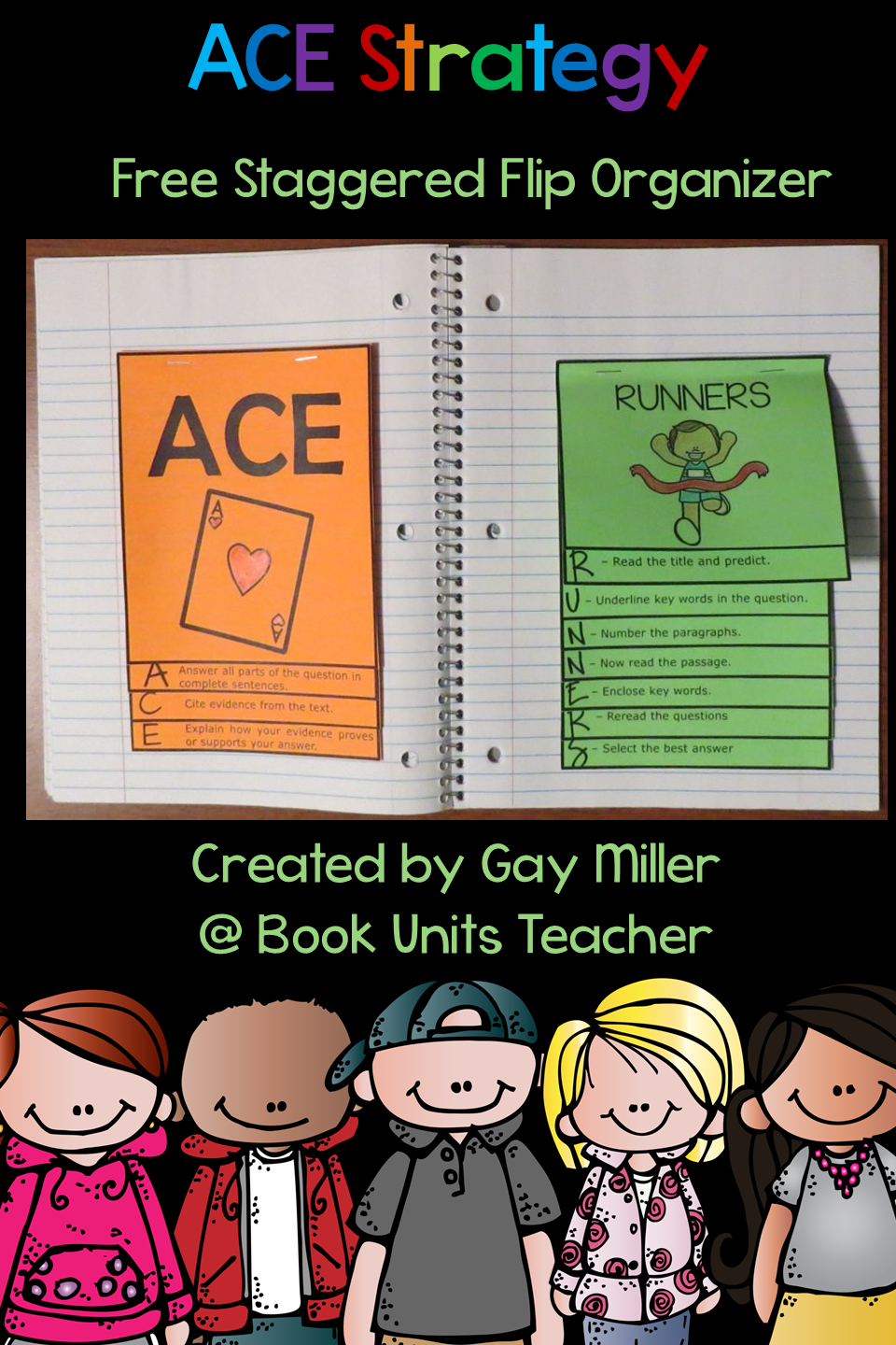 Check out this free staggered flip organizer explaining the ACE Writing Strategy.