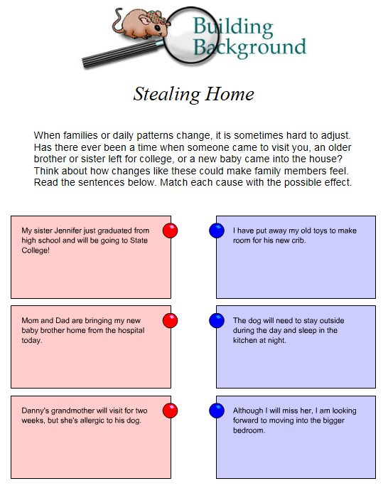 Stealing Home Activity