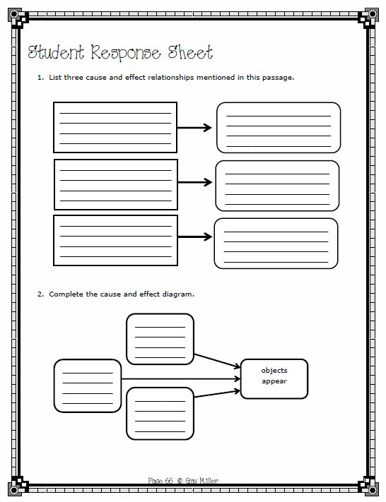 Sample Cause and Effect Activity