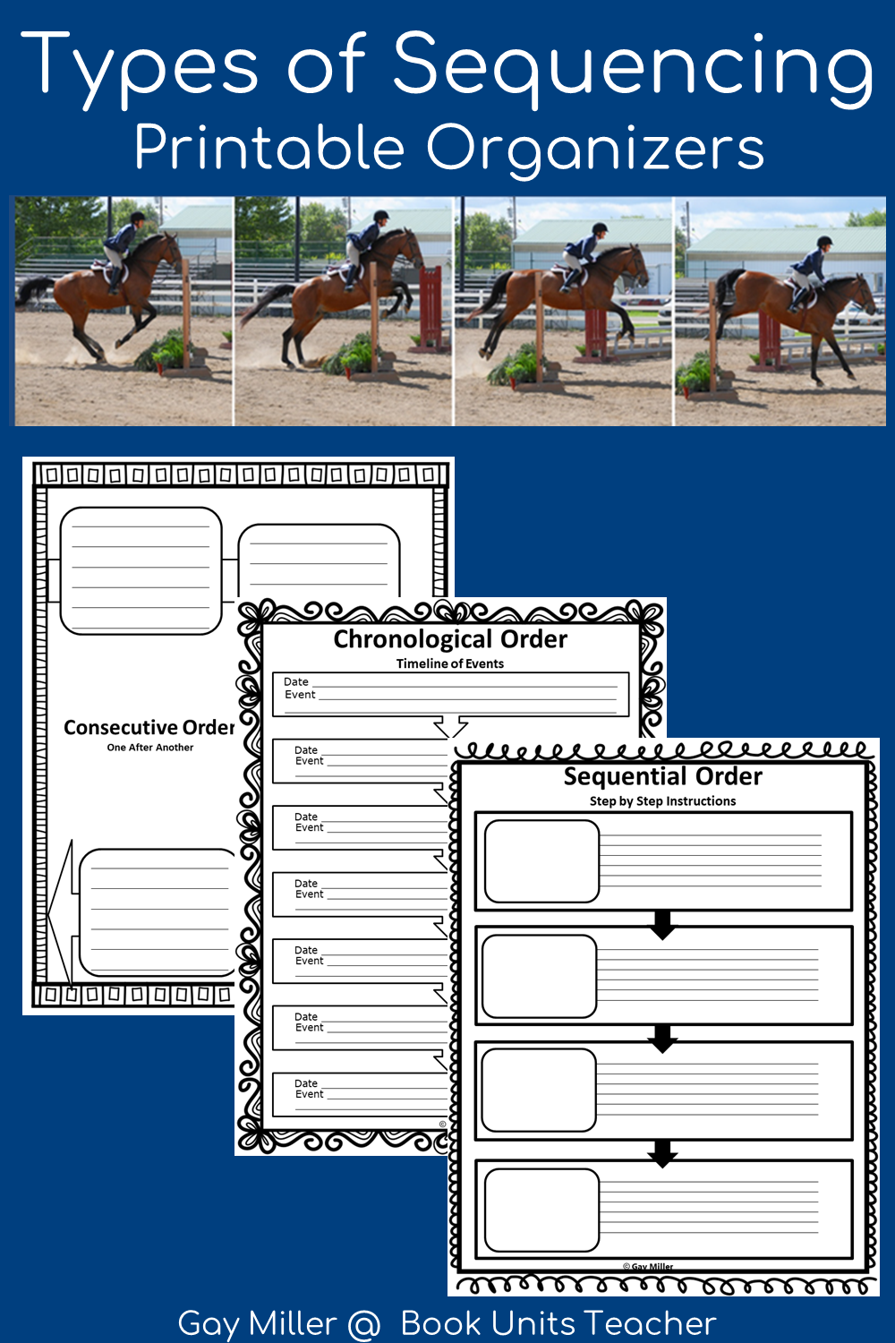 This blog post contains links to practice exercises for chronological, sequential, and consecutive order. You can also download these free graphic organizers.