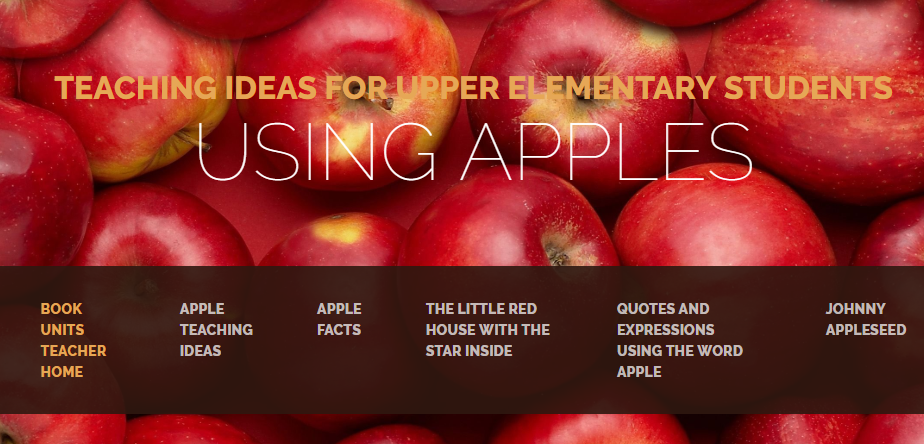 TEACHING IDEAS FOR UPPER ELEMENTARY STUDENTS USING APPLES