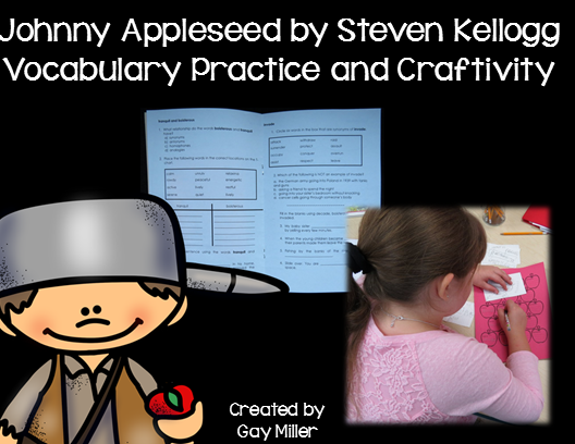 Free Vocabulary Exercises and Materials to use with Johnny Appleseed by Steven Kellogg