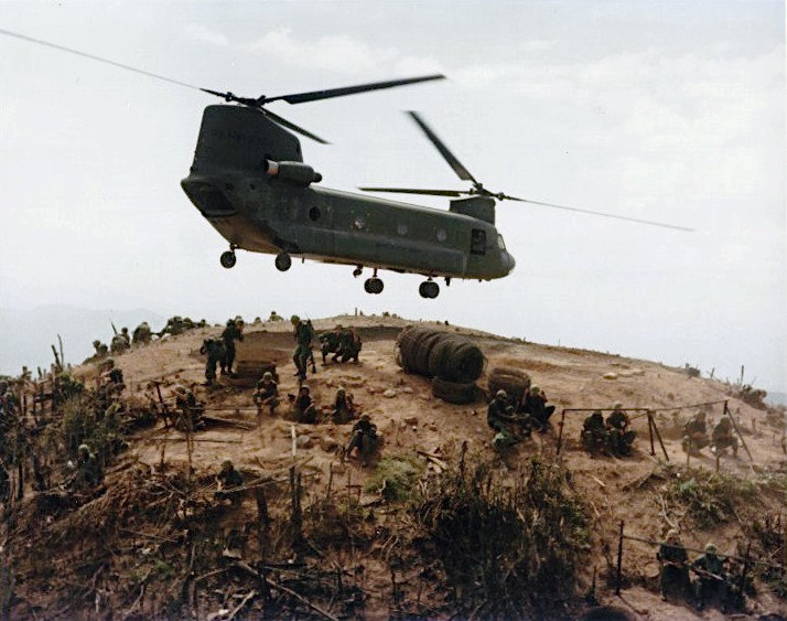 Vietnam War Helicoper - 14th Infantry Regiment from Filhol Rubber Plantation Area