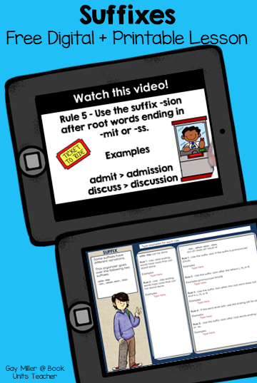 This lesson introduces students to the suffixes -able/-ible and -ion/-ation/-sion/ -tion. This mini lesson is a vocabulary building exercise for upper elementary and middle school students.
