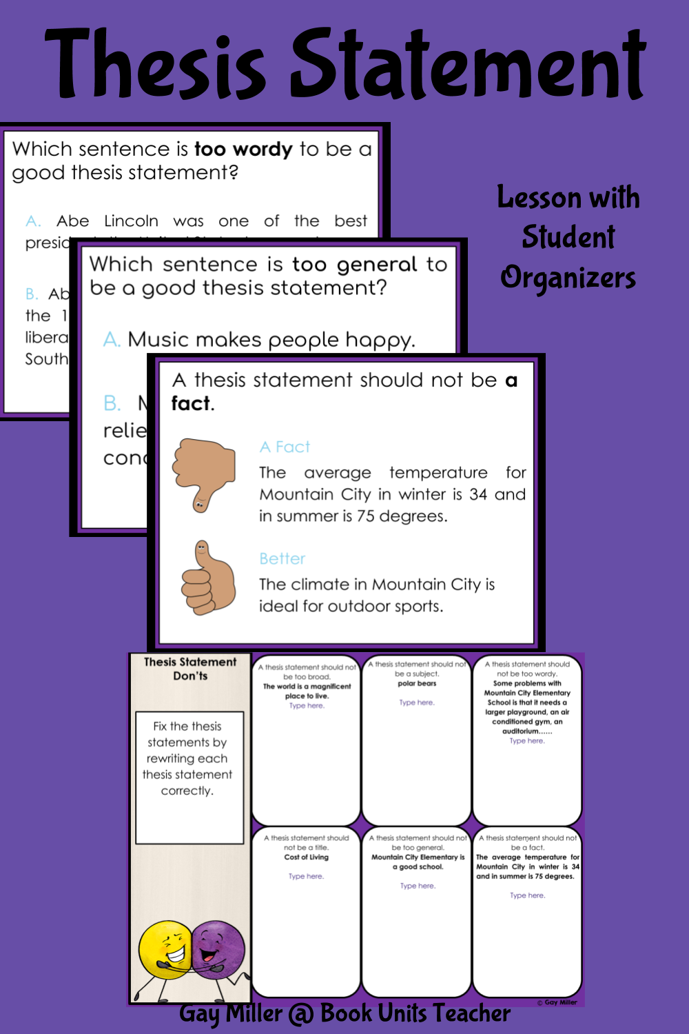 Free Lesson on Writing a Thesis Statement