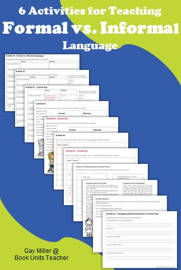 Teaching Upper Elementary Students Formal vs Informal Language