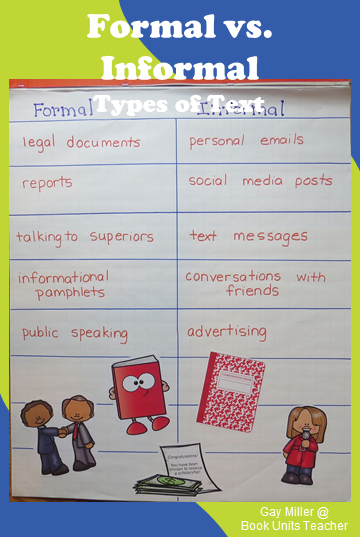 Anchor Chart with T-chart for writing skills