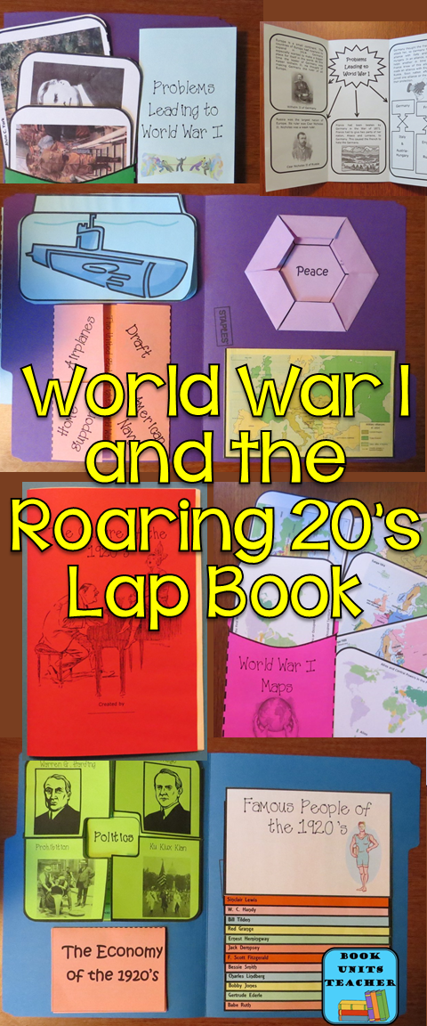World War I and the Roarting Twenties Lap Book